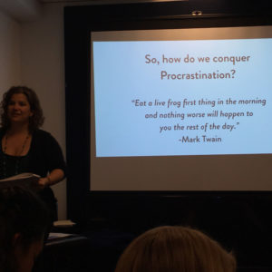 guest speaker Betsy Capes Kaplan